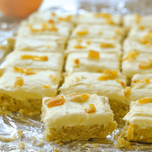 orange sugar cookie bars