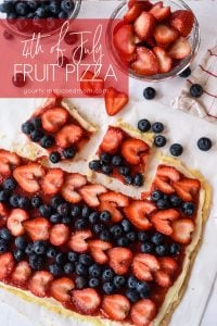 slices of fruit pizza