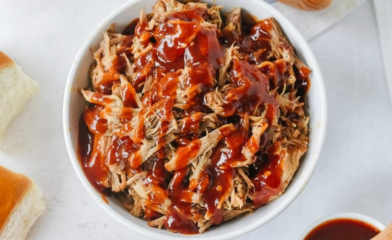 Instant Pot Pulled Pork in a bowl