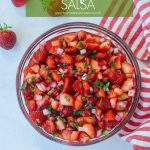 strawberry salsa in a bowl