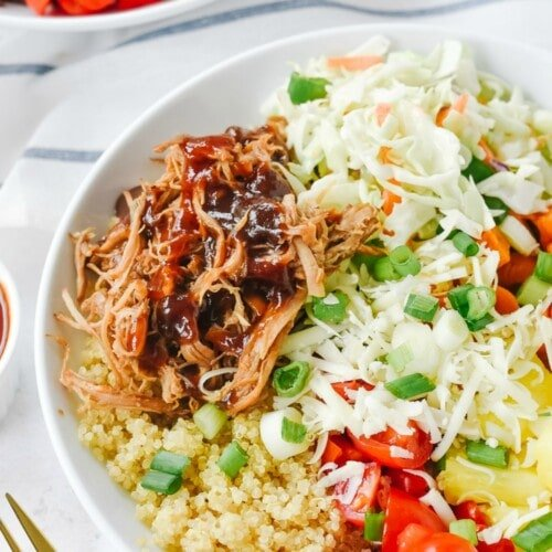 Pulled Pork Bowl with coleslaw