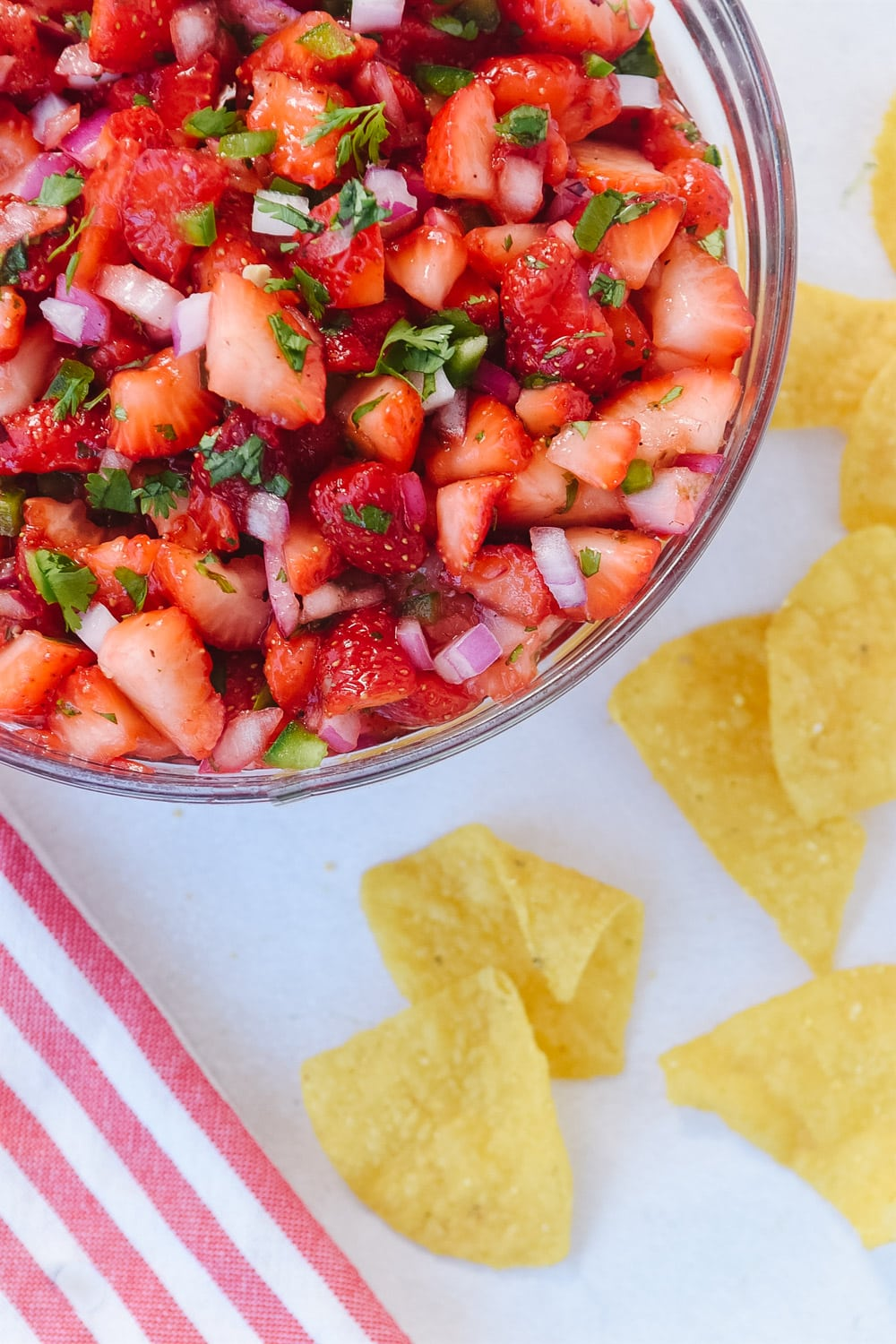 Strawberry Salsa with chips