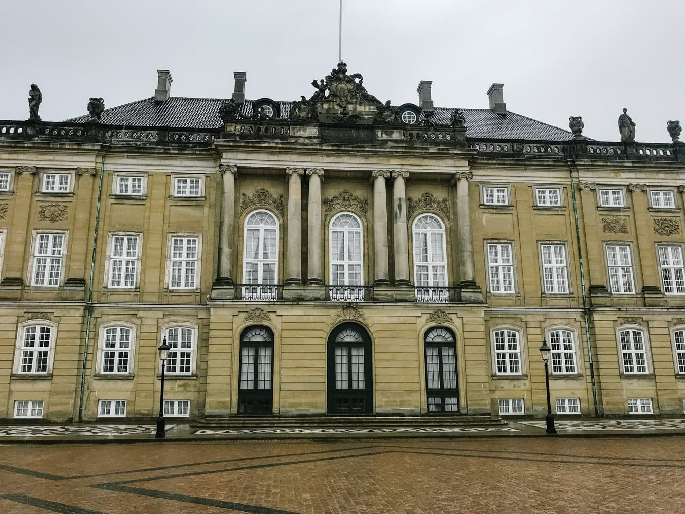 Royal Palace in Copenhagen Denmark