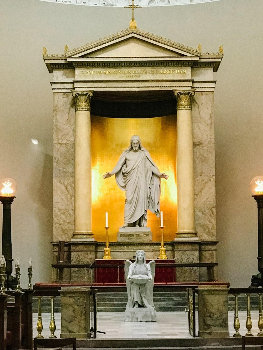 Risen Christ Statue in Copenhagen Denmark