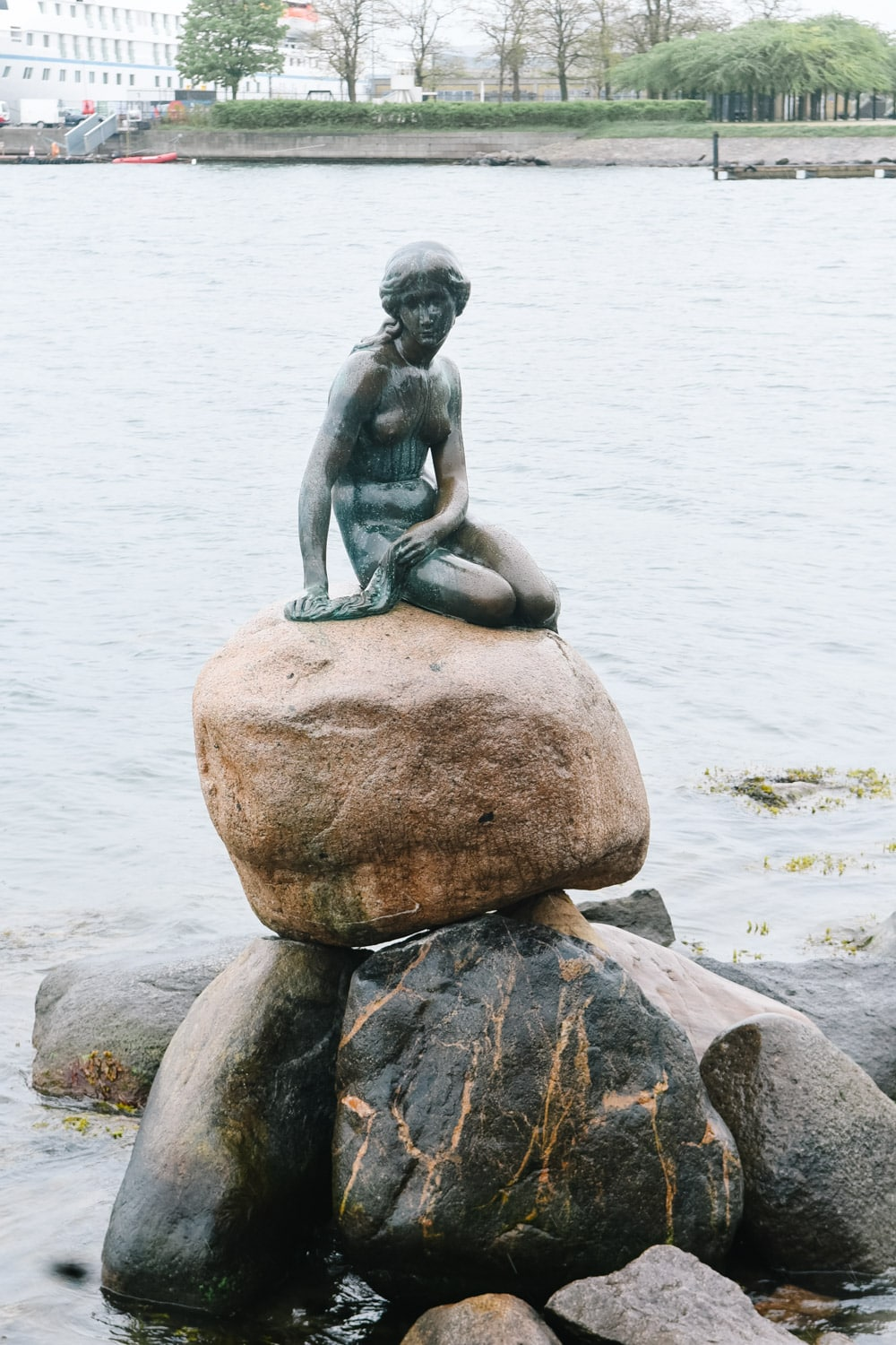 Little Mermaid Statue in Copenhagen Denmark
