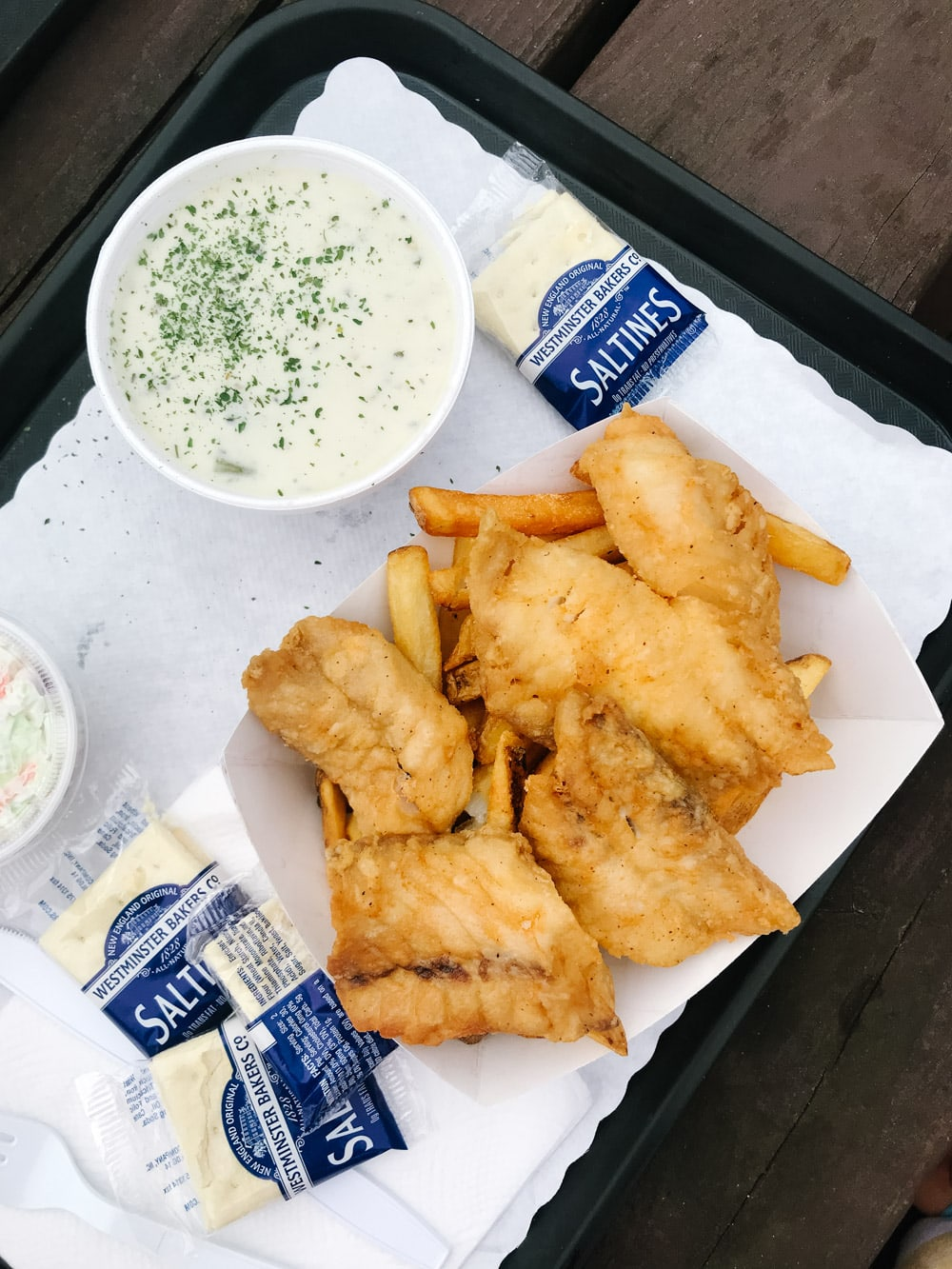 fish and chips and chowder