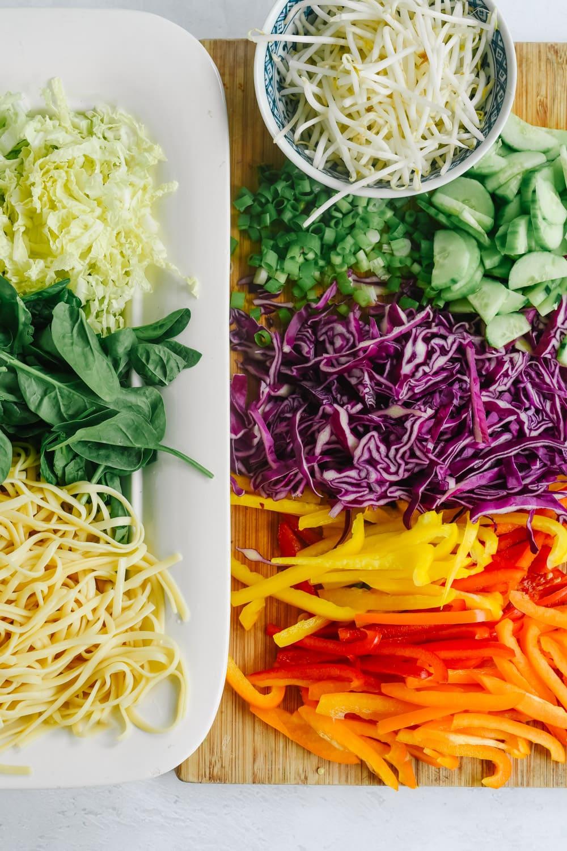 Ingredients for Asian Noodle Salad