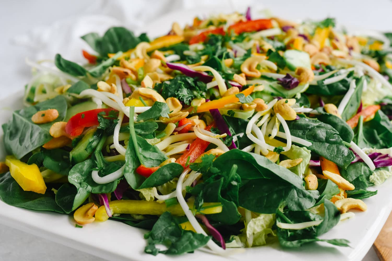 close up of Asian Noodle Salad