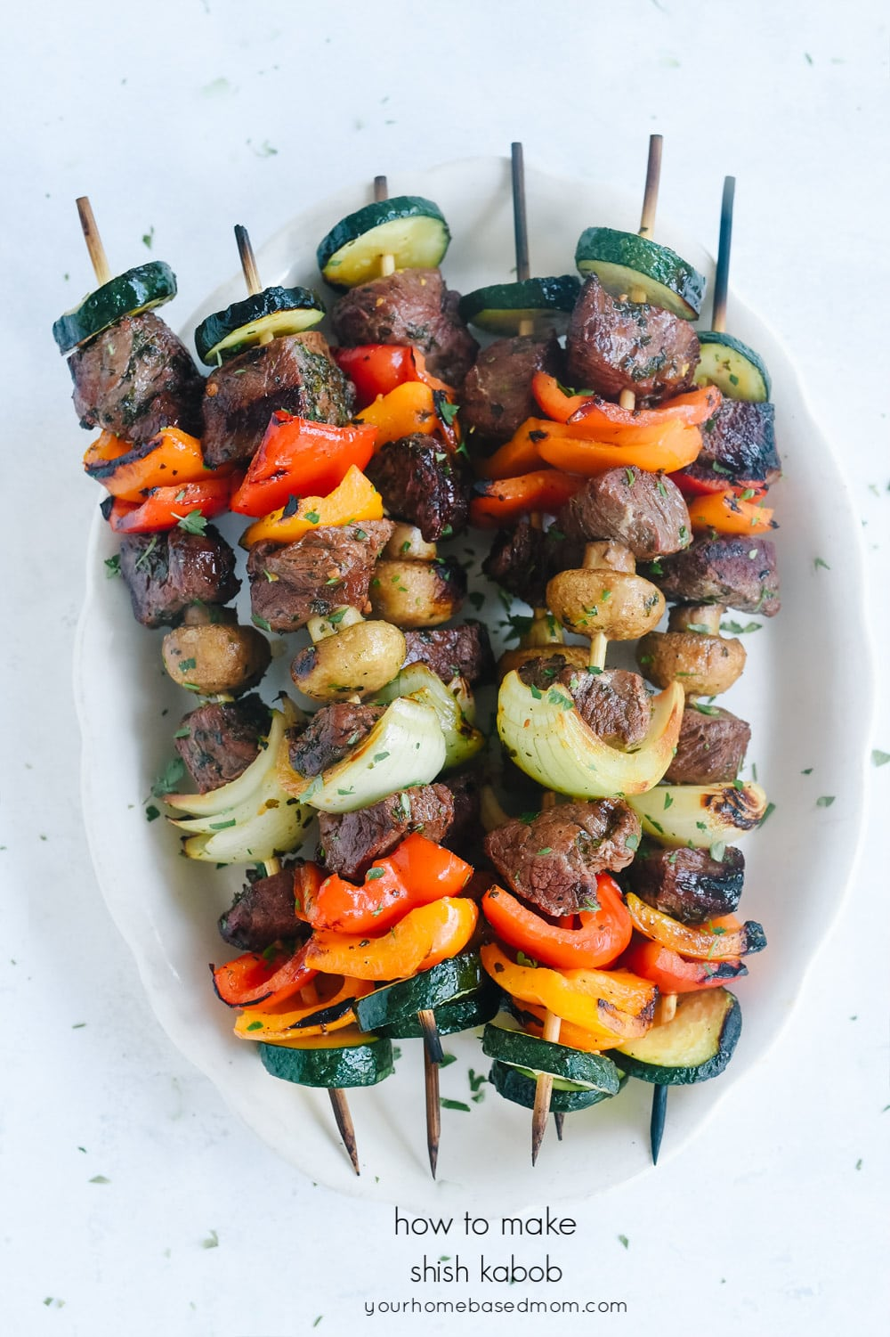 beef and vegetable skewers