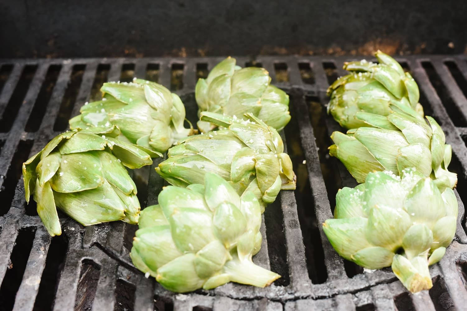 Artichoke on the grill