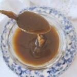 spoonful of caramel sauce
