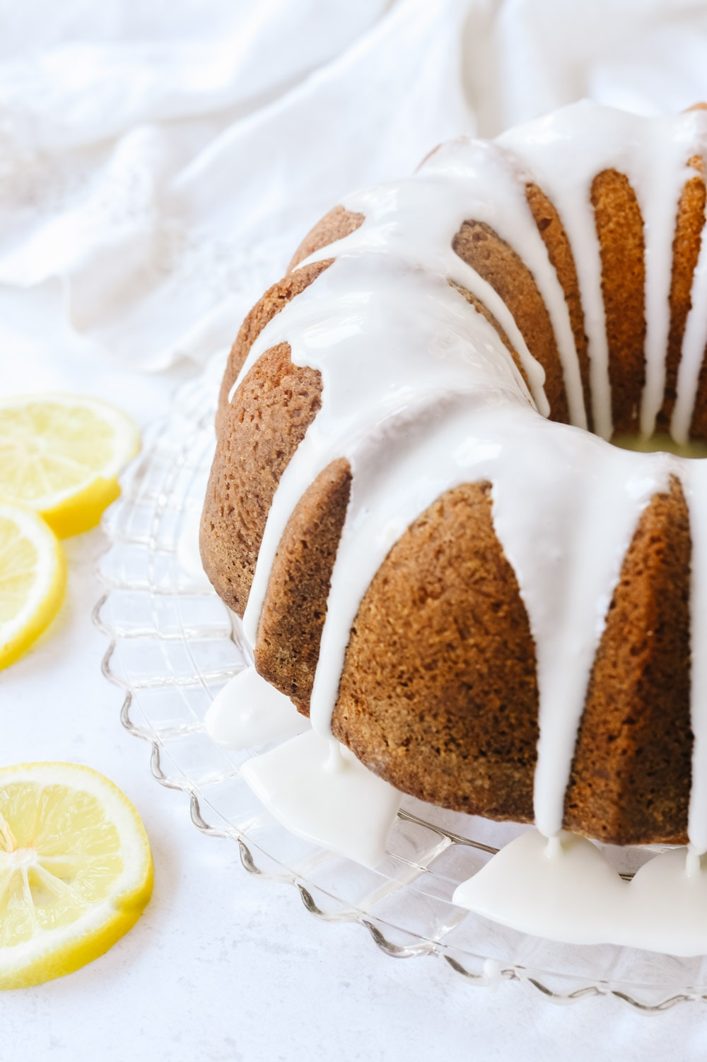 lemon pound cake with glaze