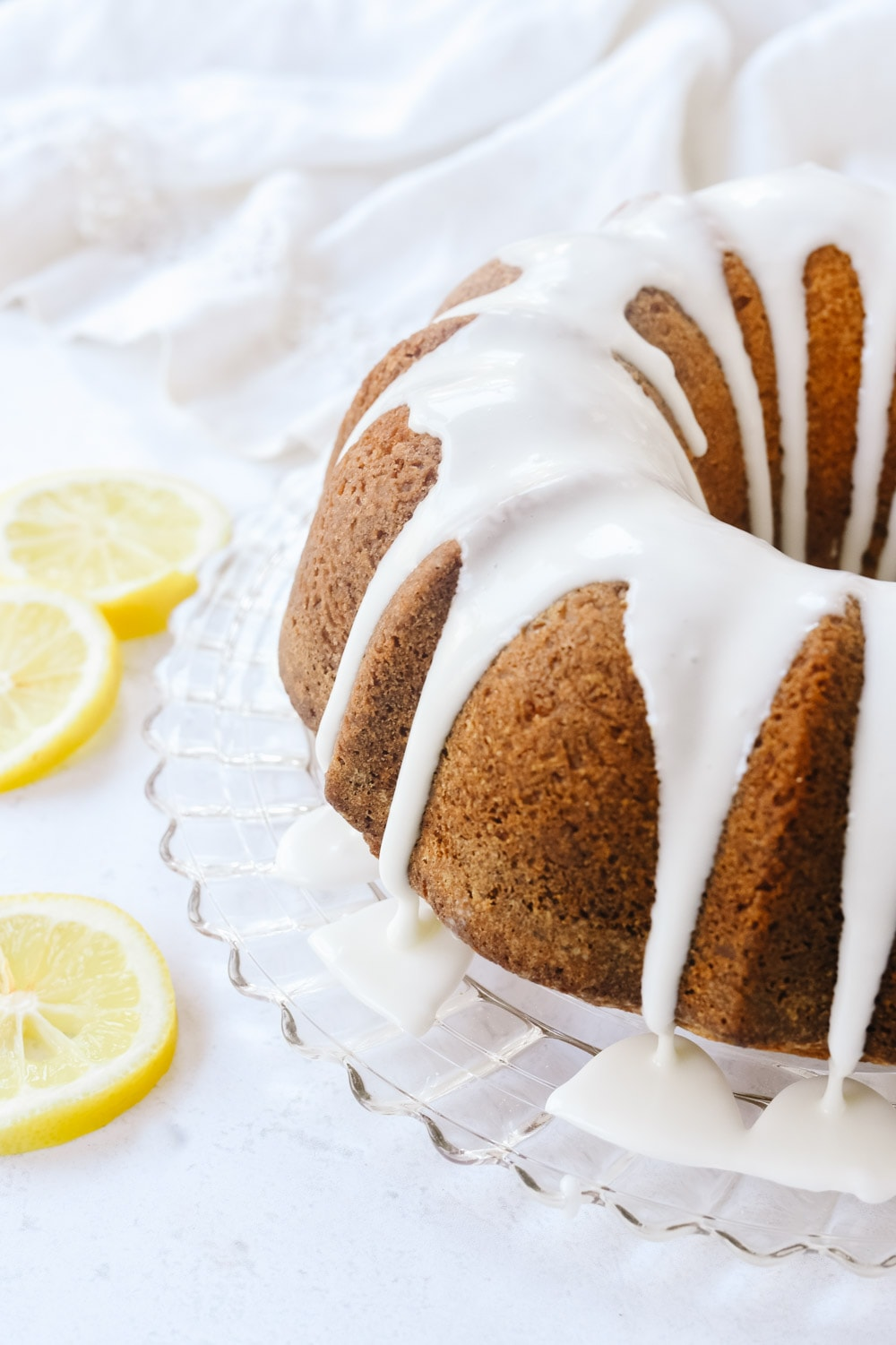lemon pound cake with drizzle