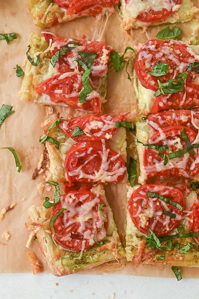 squares of tomato tart