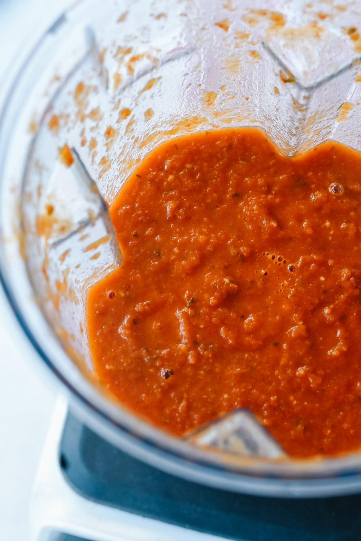 tomato soup in blender