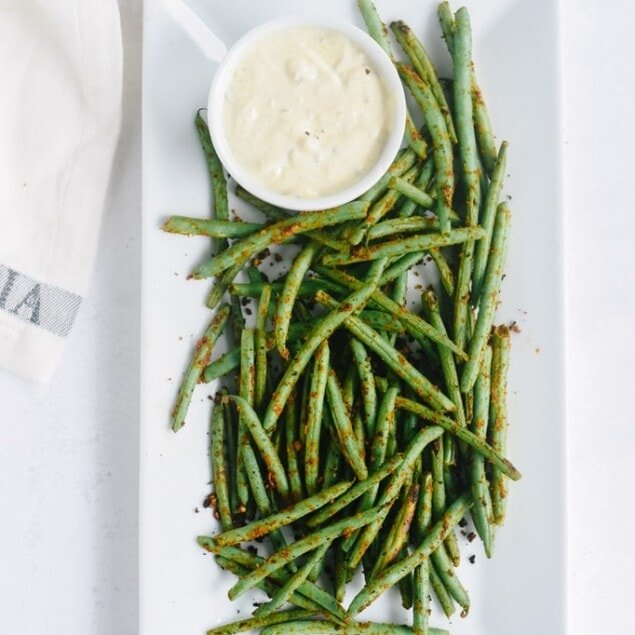 plate of green beans