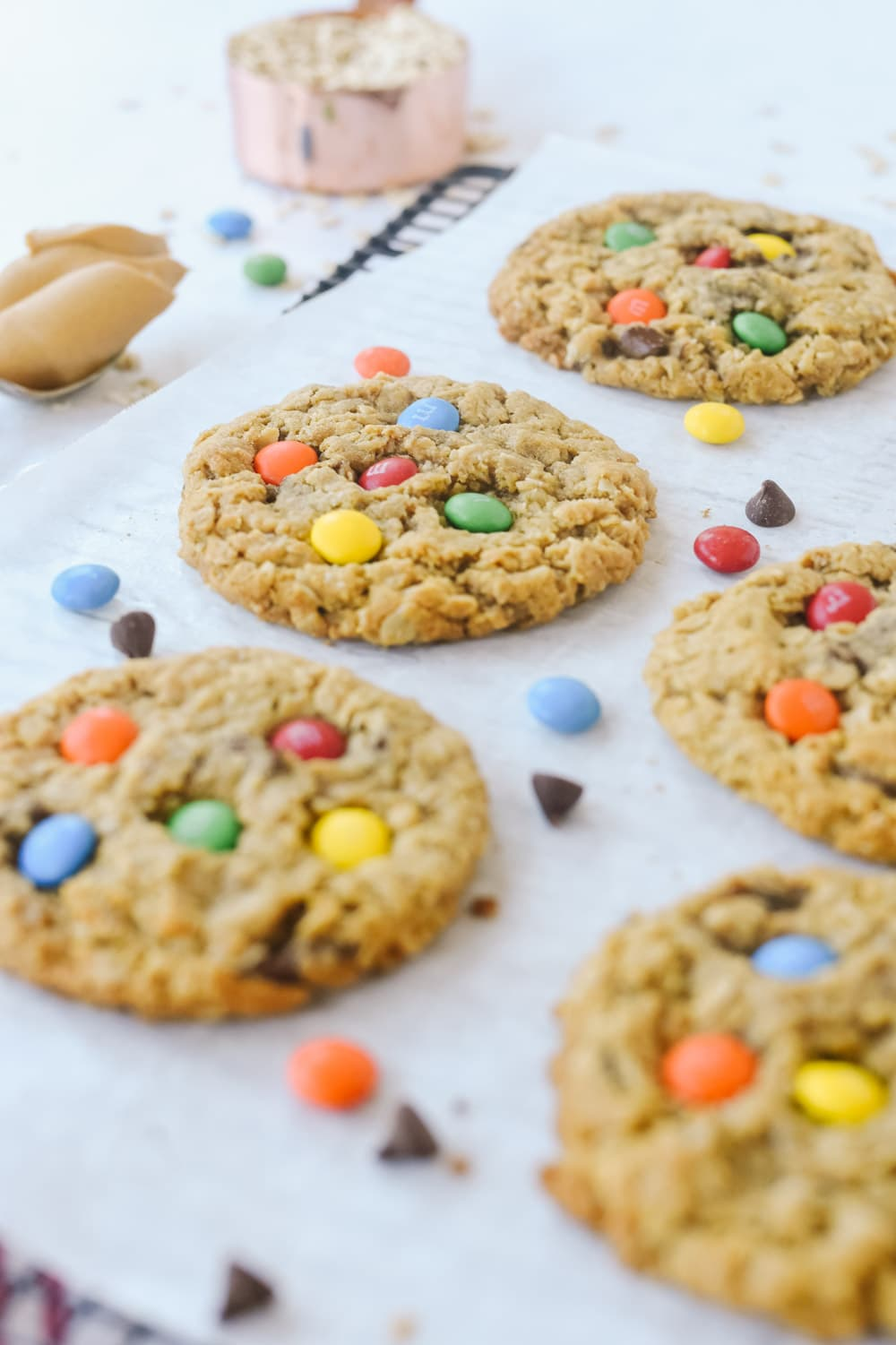 Monster cookies with M & M's