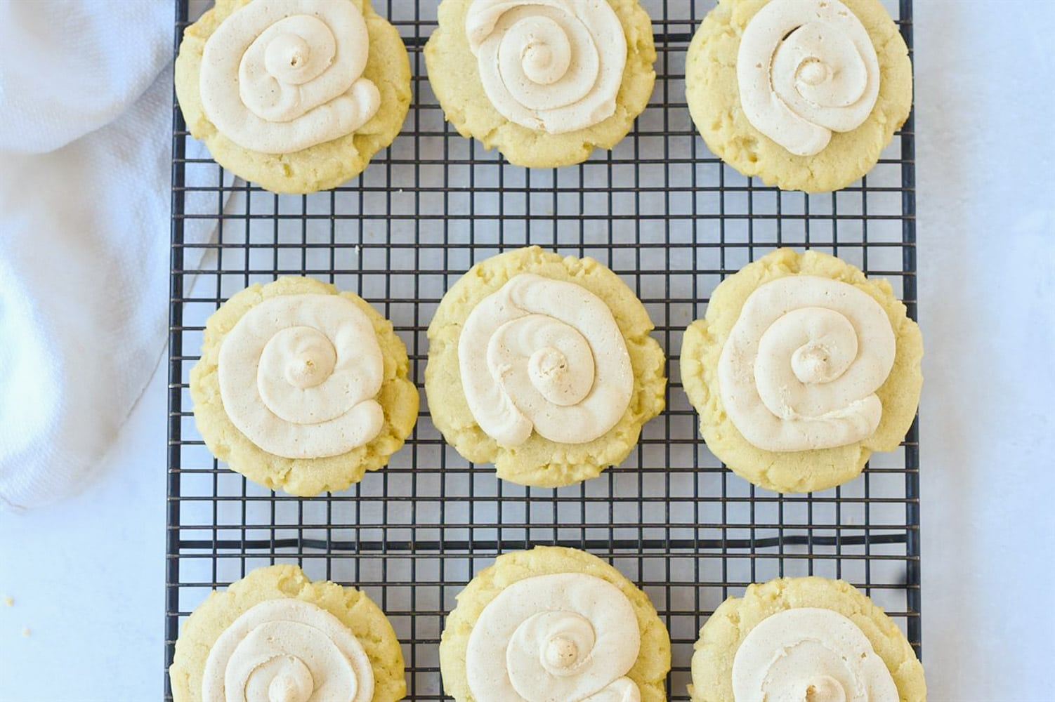 frosted brown butter cookies