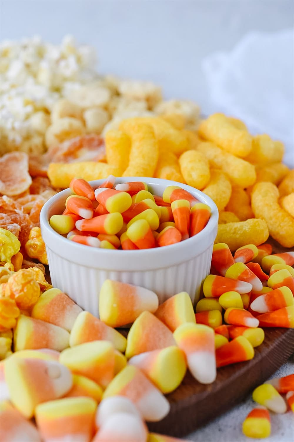 candy corn snack board treat ideas