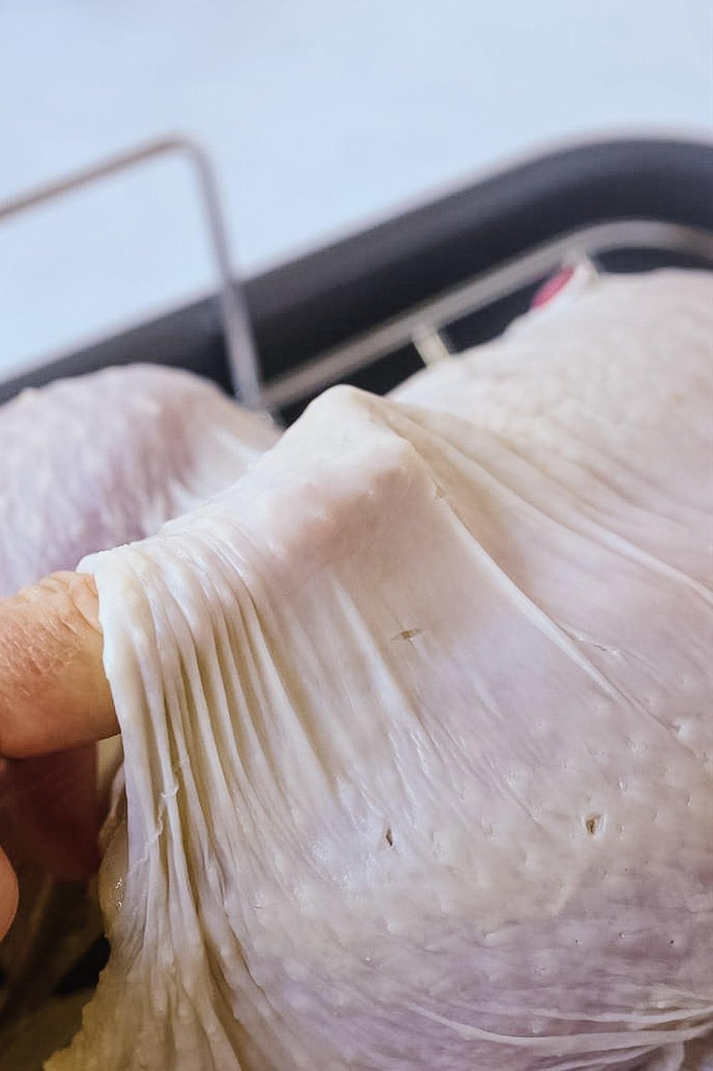losening skin on turkey
