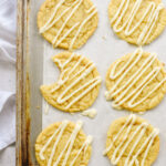 maple sugar cookies on a cookie sheet