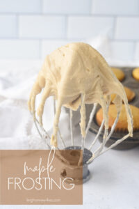 maple frosting on a wire whisk