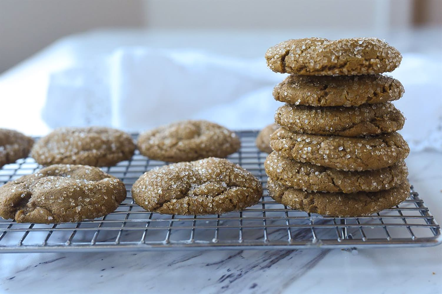 gingersnaps on a cooling rack