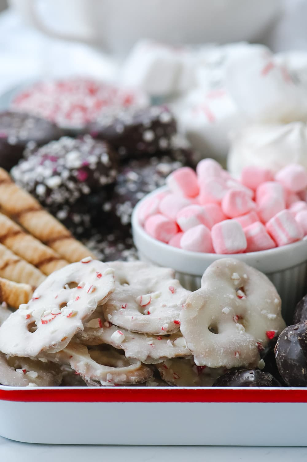 Hot Cocoa Snack Board ingredients