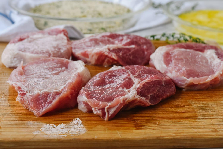 sliced pork ch ops