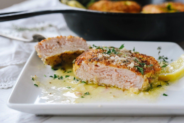 sliced breaded pork chop