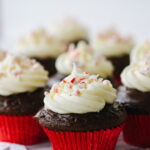 chocolate cupcake with cream cheese frosting