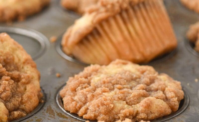 banana muffins in a muffin tin