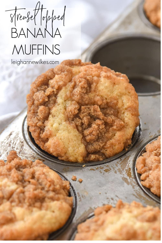 closeup of muffin in muffin tin