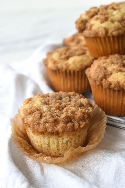 unwrappe banana muffin