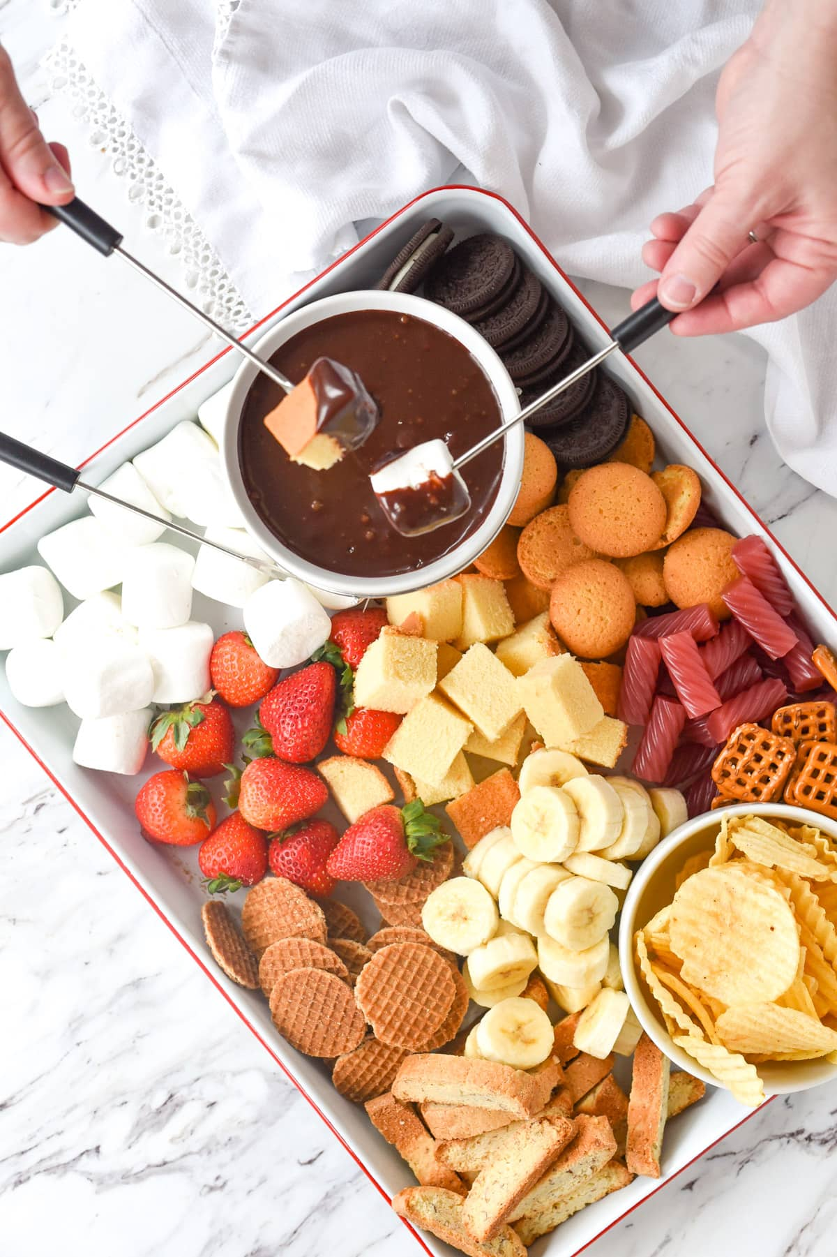 Top Ten Posts of 2020 - chocolate fondue