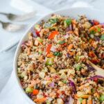 spoonful of thai quinoa salad