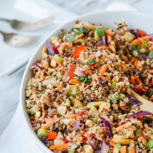spoonful of thai quinoa salad