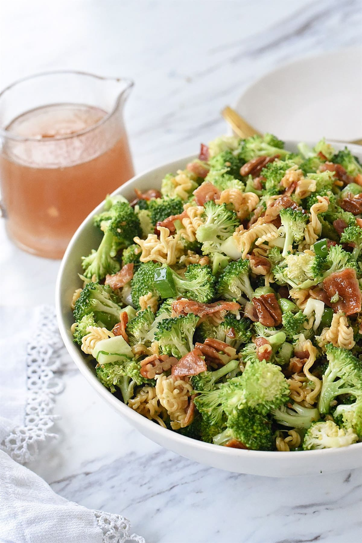 bowl of crunch broccoli salad