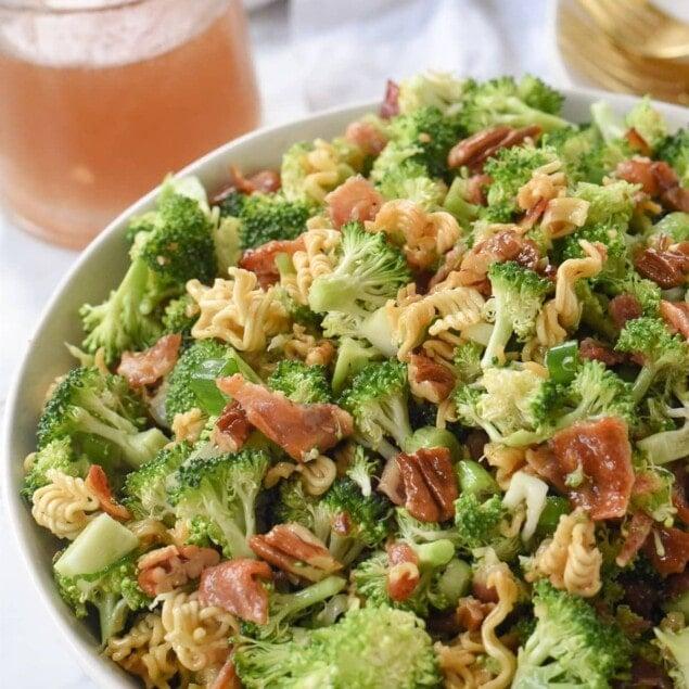 broccoli crunch salad in a bowl