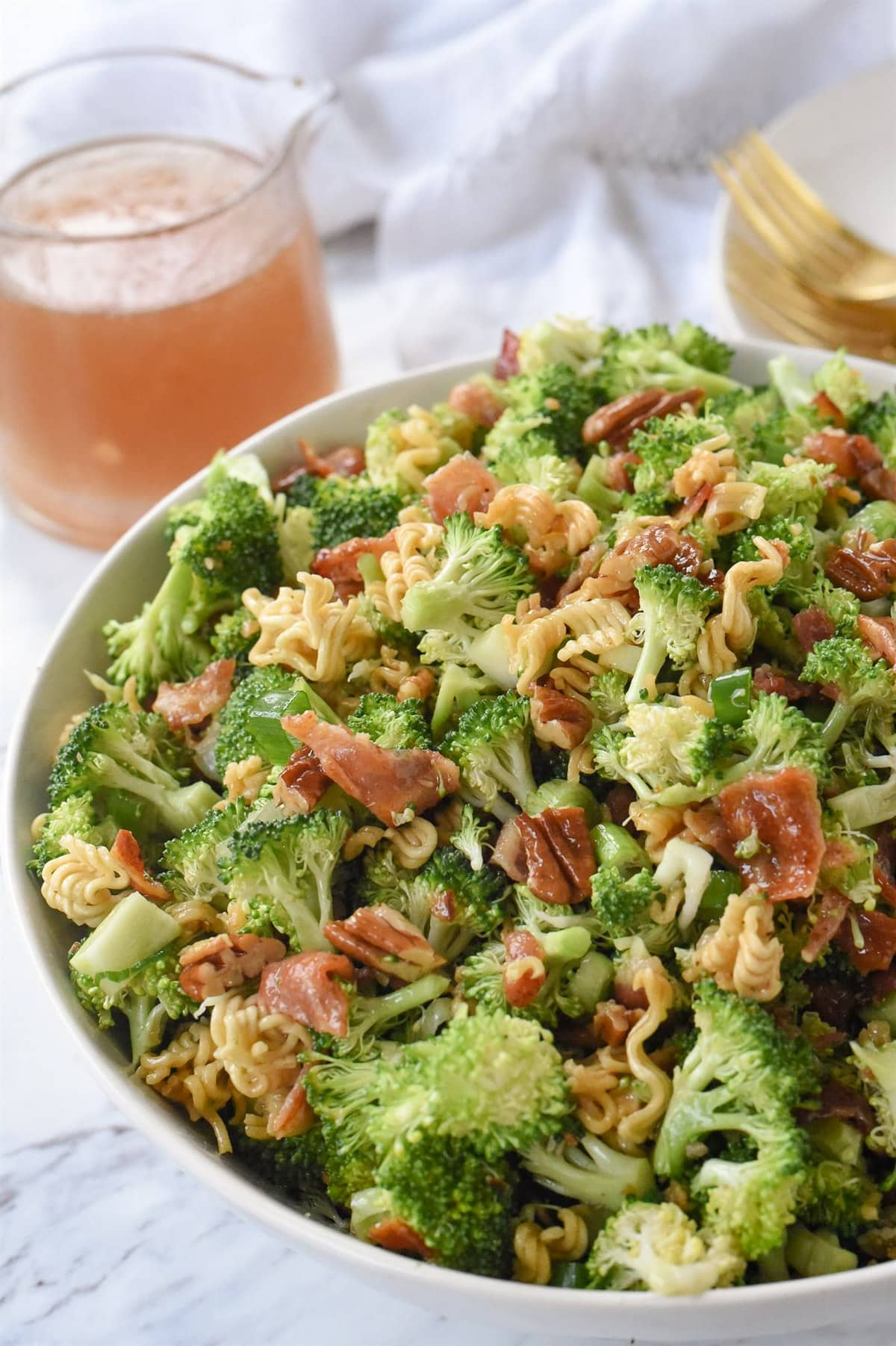 broccoli crunch salad in a bowl
