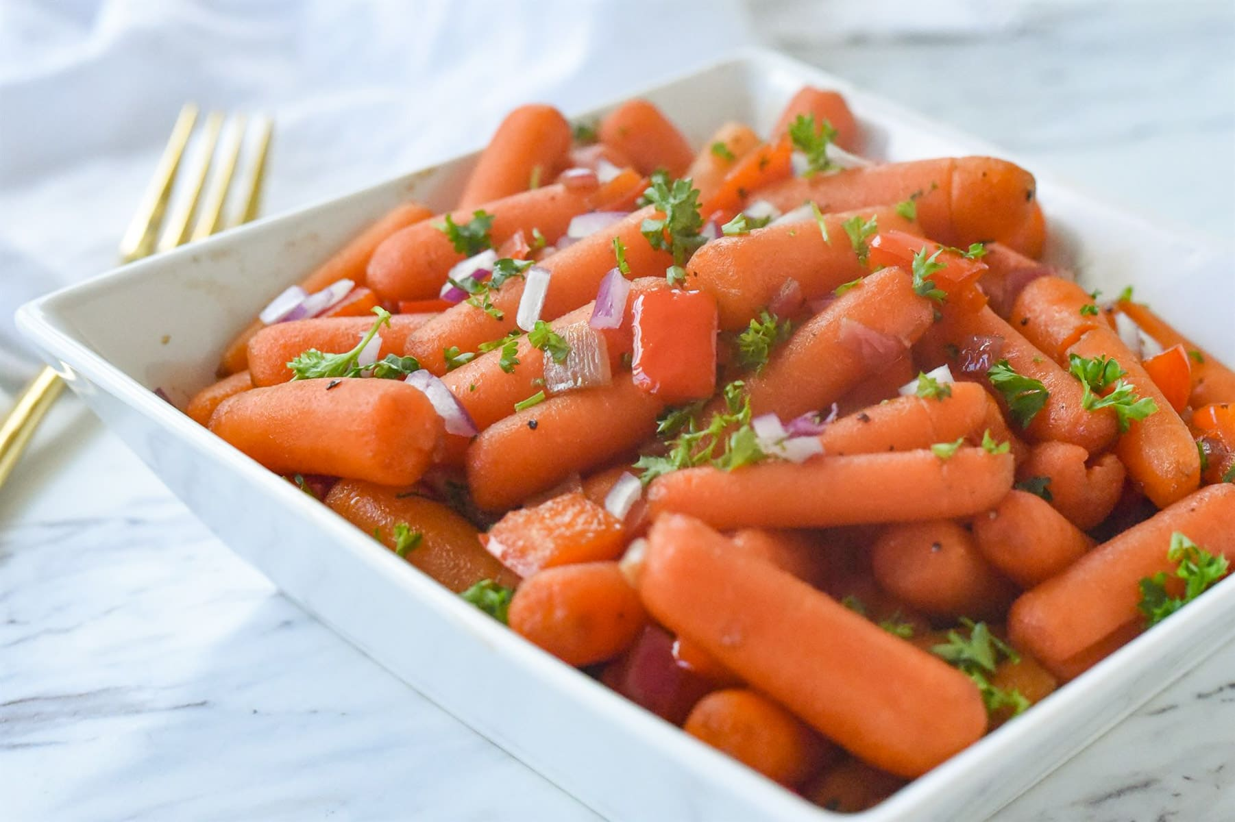 carrots in a white bowl