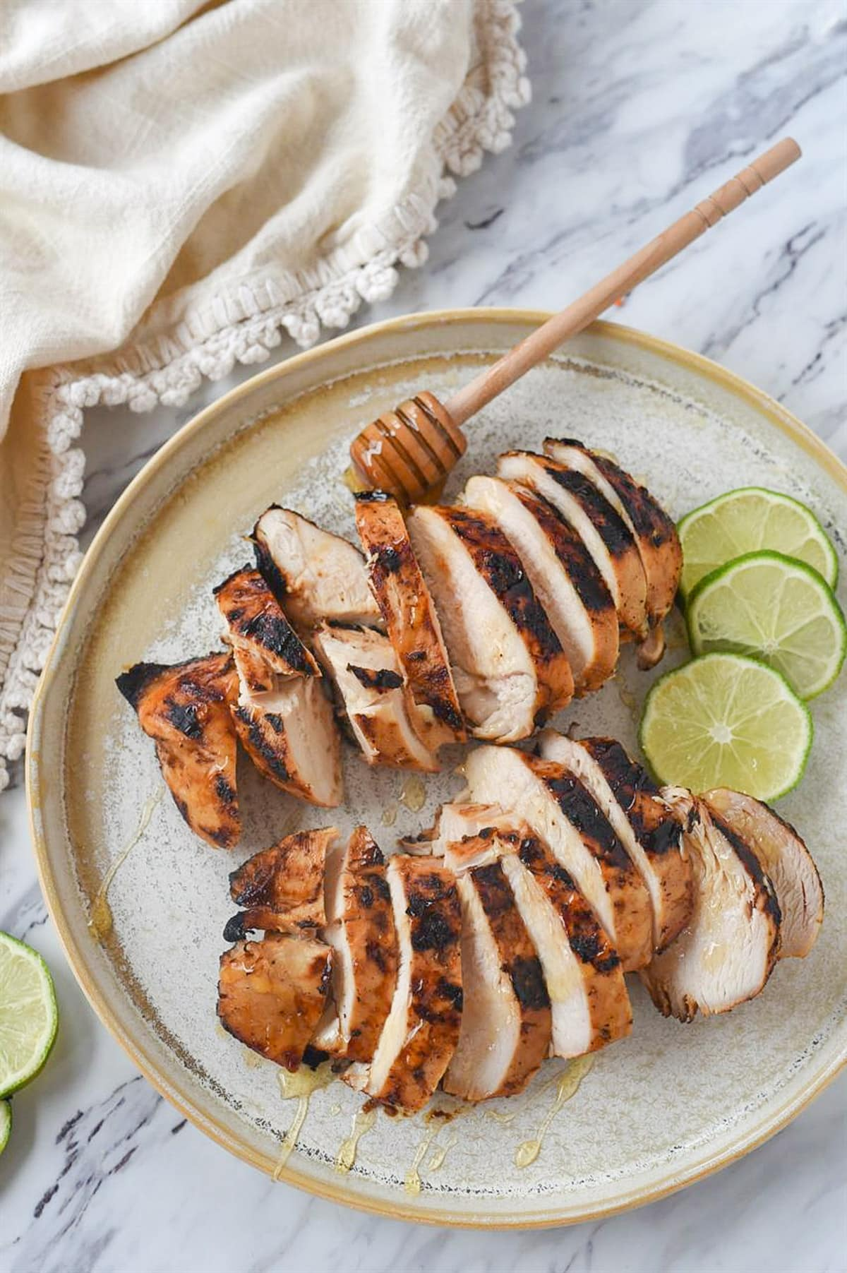 honey lime chicken on a plate