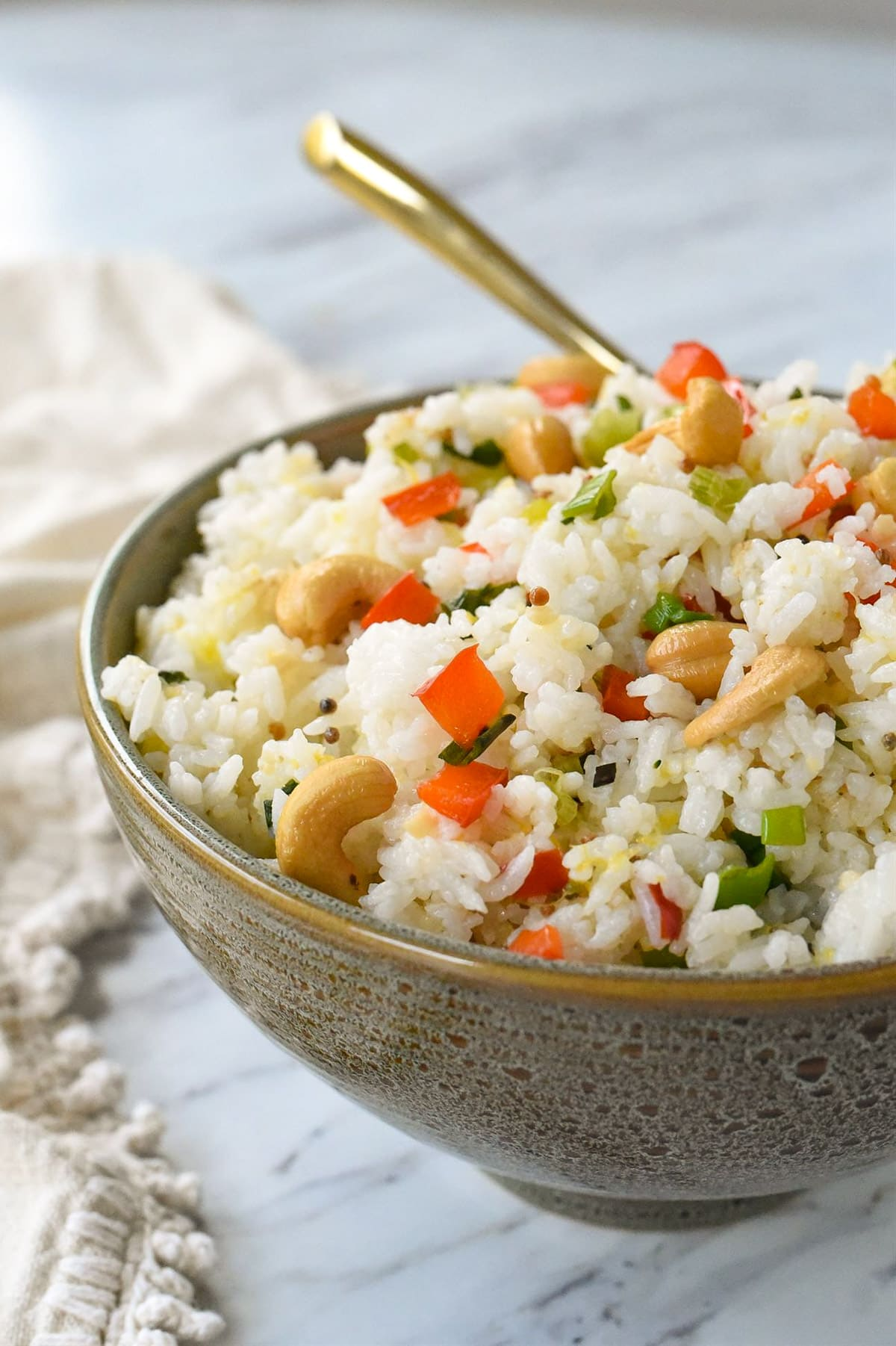 bowl of cashew nut rice