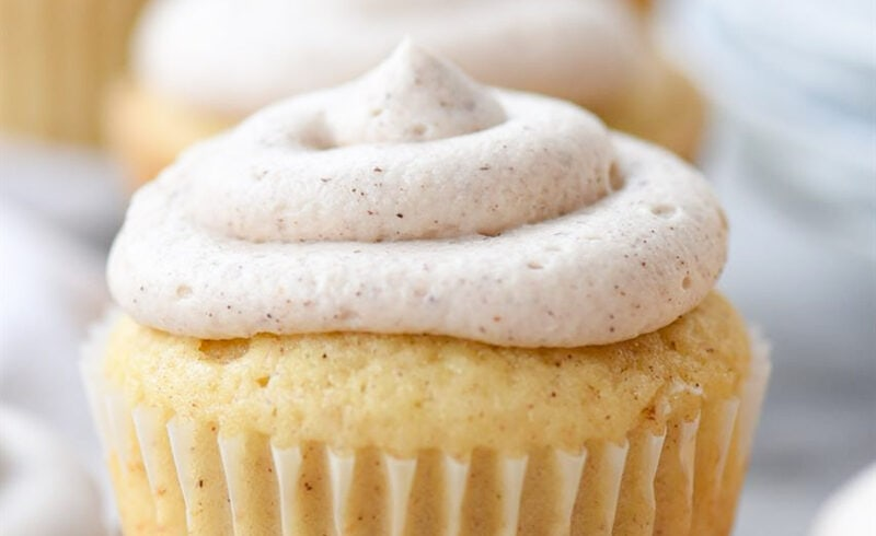 a cupcake with frosting on top