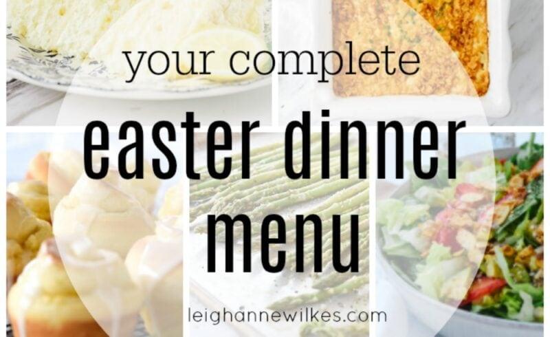 easter dinner menu ideas