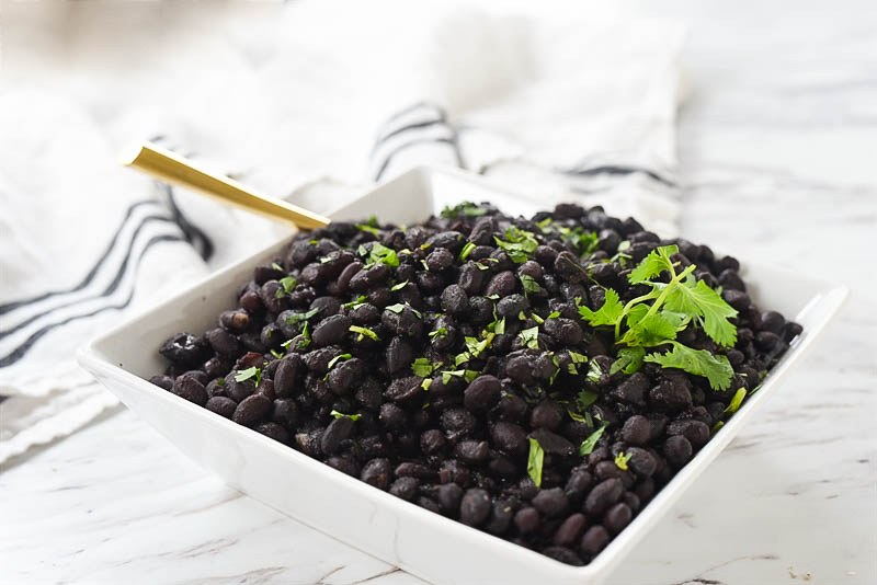 bowl of instant pot black beans