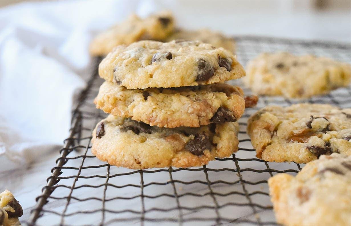Pile of three cookies