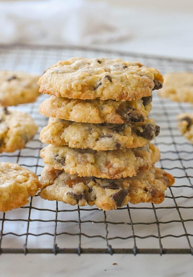 stack of five cookies