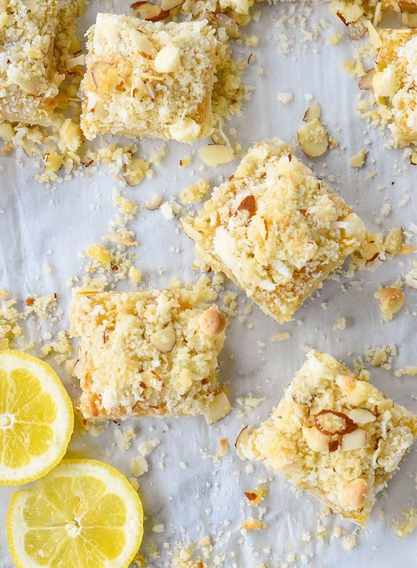 squares of lemon bars