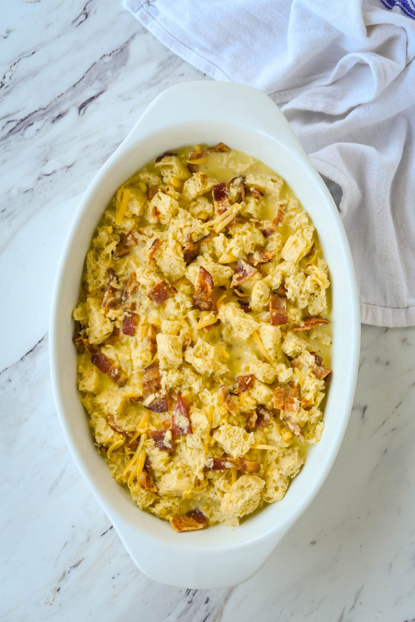 bacon casserole in a dish